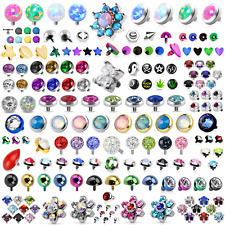 New Body Piercing Dermal Anchor Top Head Skin Diver Gem Opal Ferido Crystal