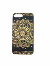 For Apple Iphone 7 / 7 Plus / 6 100% Natural Wood Engraved Hard Back Cover Case