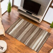 New Beautiful Rugs For Living Room Bedroom Modern Design Carpet Beige Striped