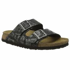 Papillio by Birkenstock Arizona Royal Python Black Womens Leather Sandals 4592ba69cb2