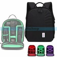 YINGNUOST Y73 DSLR Camera Carry Bag Waterproof Backpack For Canon Nikon Sony【UK】