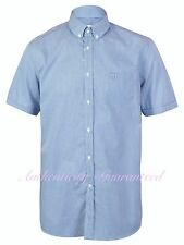 Lacoste Men's Short Sleeve Shirt Blue Gingham Check RRP £85 BNWT SALE!