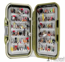 Waterproof Fly Box With Mixed Trout Fly Fishing Flies Wet Dry Nymphs and Buzzers