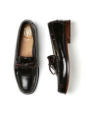 Men's Pinch Grand Shawl Bow Burgundy Leather Penny Loafers #C23552