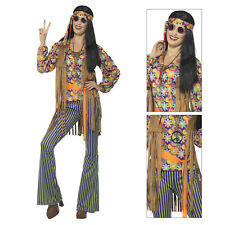Smiffys Womens 60s Hippie Singer Fancy Dress Costume Ladies 70s Groovy Outfit