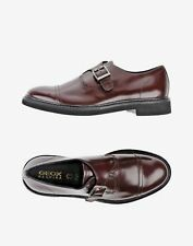 Men's Damocle A Brown Italian Patent Leather Monk Shoe