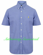 Ralph Lauren Custom Fit Blue Gingham Short Sleeve Shirt RRP £100