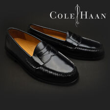 Men's Pinch Black Leather Penny Loafers #03503