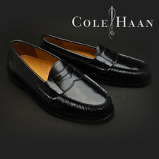 Cole Haan Men's Pinch Black Leather Penny Loafers #03503