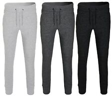Hommes Skinny Bas De Jogging Slim Fit Survêtement Pantalon Polaire Gym Sweats