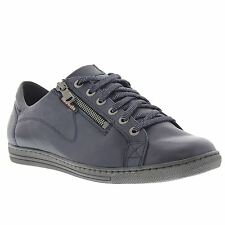 Mobils by Mephisto Hawai Navy Womens Leather Lace-up Zipper Shoes
