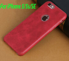 Premium Quality PU Leather Soft Back Case Cover For Apple iPhone 5 / 5S / SE