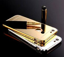 LUXURY METAL FRAME BUMPER+PC MIRROR BACK CASE COVER For Apple iPhone 6 / 6S