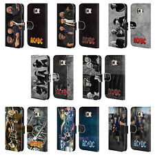 OFFICIAL AC/DC ACDC GROUP PHOTO LEATHER BOOK WALLET CASE FOR SAMSUNG PHONES 1