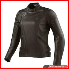 Giacca Moto Pelle Rev'it Bellecoure Marrone Lady Protezioni Donna Revit