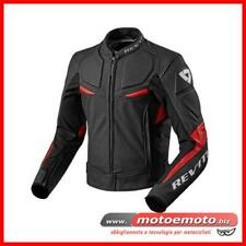 Giacca Moto Pelle Rev'it Masaru Revit Nero Rosso Racing Touring