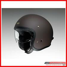 Shoei J.O Casco Moto Jet Fibra JO Matt Brown Vintage Classic Marrone opaco