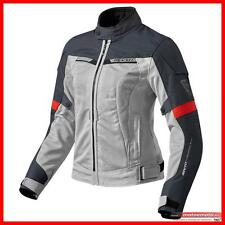 Revit Giacca Moto Donna Traforata Airwave 2 Lady Argento Rossa Rev'it
