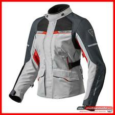 Giacca Moto Donna Revit Outback 2 Lady Silver Red 3 Strati Touring Impermeabile