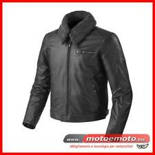 Giacca Moto Pelle Rev'it Pilot Vintage Nera Revit Morbida Classic Custom
