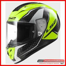 Casco Moto Ls2 Integrale FF323 Arrow C EVO Fury Carbon Giallo fluo Carbonio