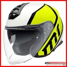 Casco Moto Fibra Jet Schuberth M1 Jet Flux Yellow Giallo