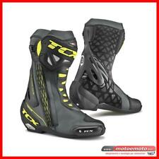 Stivali Moto Tcx RT Race Nero Giallo Fluo Pista Sport Racing Antitorsione