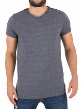 Tommy Hilfiger Denim Men's Original Melange Logo T-Shirt, Black