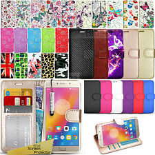 For Lenovo  P2 A Vibe B K8 Wallet Leather Case Flip Book Cover+ Screen Protector