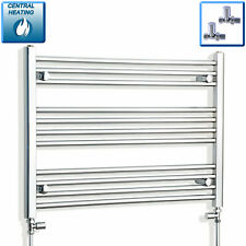 750mm Wide 600mm High Designer Chrome Heated Towel Rail Radiator Bathroom Rad