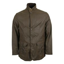 barbour lutz wax jacket in small