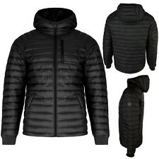 Mens Bubble Jacket Brave Soul Hooded Quilted Puffer Padded Winter Coat Size S XL
