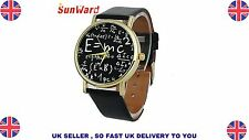 Luxury Math Symbols Faux Leather Analog Quartz Watch for men and women watches