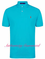 Ralph Lauren Mens Classic Fit Short Sleeve Polo Shirt Aqua S - XXL RRP £75 BNWT