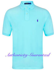 Ralph Lauren Mens Classic Fit Short Sleeve Polo Shirt Turquoise S - XXL RRP £75