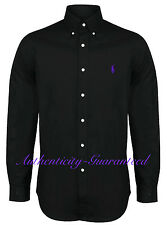 Ralph Lauren Men's Custom Fit Long Sleeve Poplin Shirt Black S - XXL RRP £100