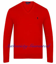 Ralph Lauren Men's Pima Cotton V-Neck Jumper Red M - XL RRP £110 SALE!!