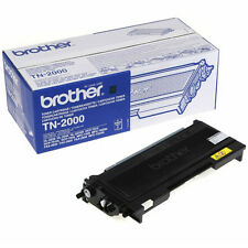 GENUINE OEM BROTHER TN2000 BLACK MONO LASER PRINTER TONER CARTRIDGE