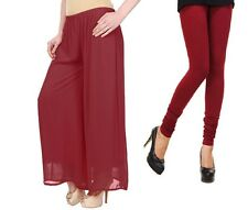 Trendy Palazzo  Pants ,Plazzo Trouser and  cotton lycra leggings  combo pack