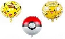 "Pokemon Themed 18"" Foil Party Balloons Boys Girls Kids Fun Round Balloon"