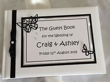 Personalised Guest Book Wedding Engagement Party Handcrafted   - Butterfly