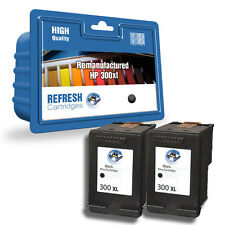 2x Negro HP remanufacturado Hewlett Packard Cartuchos de Tinta HP300XL HP 300xl