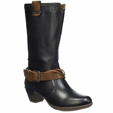 Pikolinos Rotterdam 902-9607 Black Womens Leather Mid Calf Boots