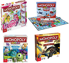 Monopoly Junior Board Game My little pony , Dragons , Monsters & Disney Planes