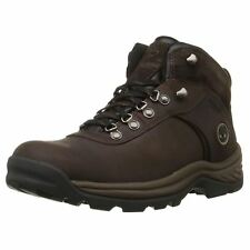 Timberland Flume Mid Waterproof Dark Brown Mens Leather Laced Hiking Ankle Boots