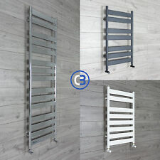 Flat Panel Designer Heated Bathroom Towel Rail Radiator - Chrome - White - Grey