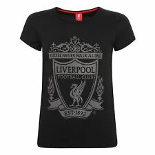 LFC Ladies Black Crest Tee