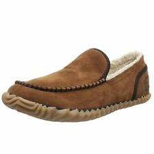 Sorel Dude Moc Brown Mens Suede Slip-on Moccasins Casual Shoes Slippers