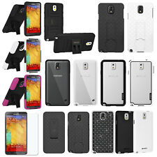 AMZER Shell Case Clip Holster Hybrid Border Cover Screen Guard For GALAXY Note 3