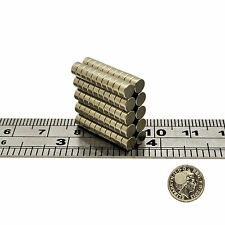 Strong 4mm x 2mm Small Tiny Neodymium Disc Cylinder Magnets N35 Grade